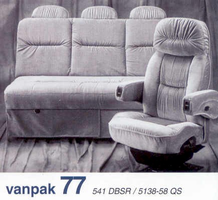 Flexsteel van conversion captains chairs sofas