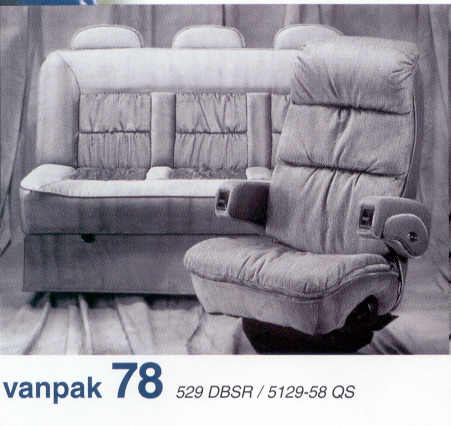 Flexsteel van conversions captain chairs sofas